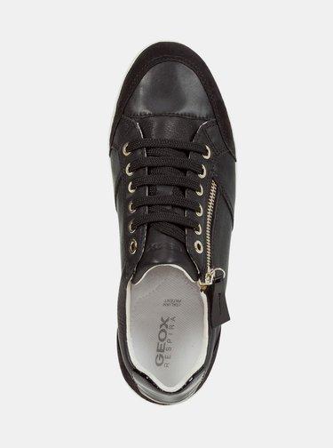 Černé dámské kožené tenisky Geox Myria