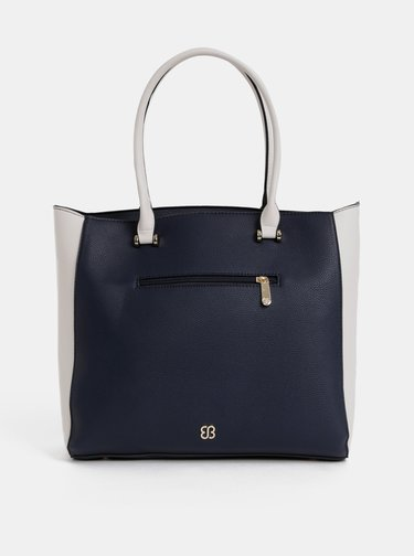 Krémovo–modrá kabelka Bessie London