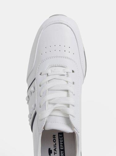 Biele dámske tenisky na platforme Tom Tailor