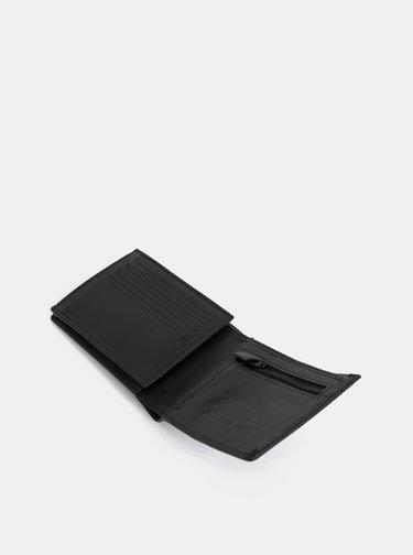 Portofel negru din piele Quiksilver Curve Cutter