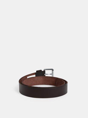 Tmavě hnědý kožený pásek Quiksilver The Every Daily Up