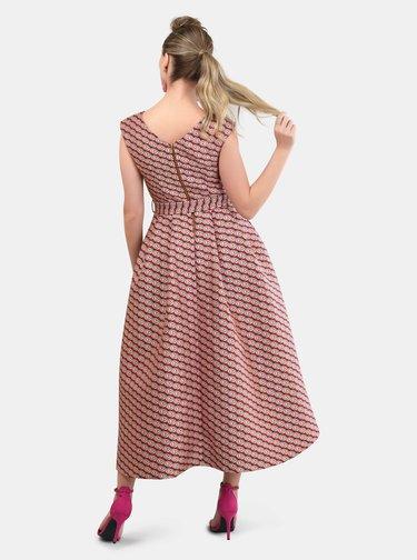 Ružové vzorované šaty Closet