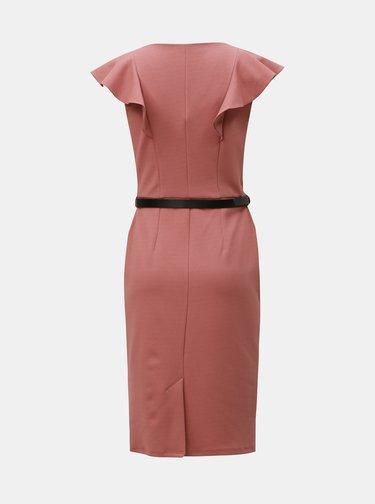 Staroružové puzdrové šaty s opaskom Dorothy Perkins
