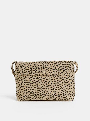Svetlohnedá crossbody kabelka s gepardím vzorom Dorothy Perkins
