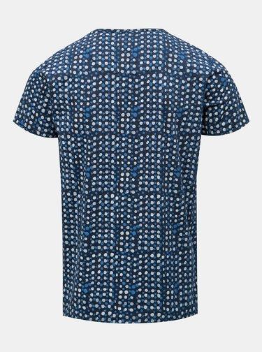 Tricou albastru inchis cu buline Dstrezzed