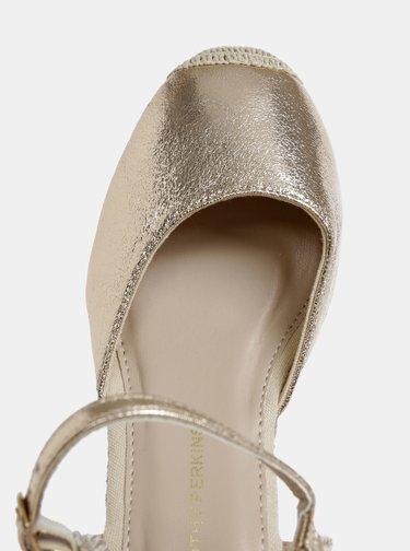 Sandale auriu-roz cu platforma wedge Dorothy Perkins