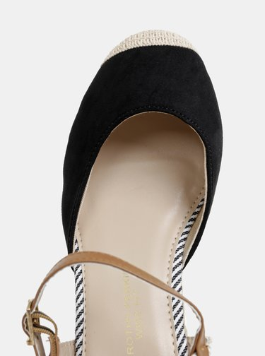 Čierne sandále na plnom podpätku Dorothy Perkins