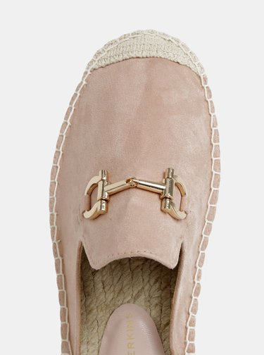 Papuci roz cu aspect de piele intoarsa Dorothy Perkins