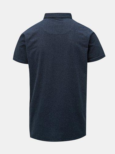 Tmavě modrá košile s drobným vzorem Dstrezzed