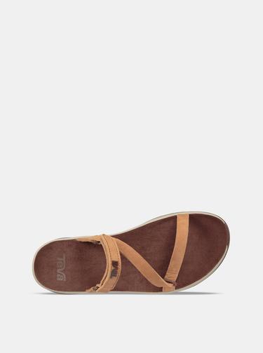 Hnedé dámske kožené sandále Teva