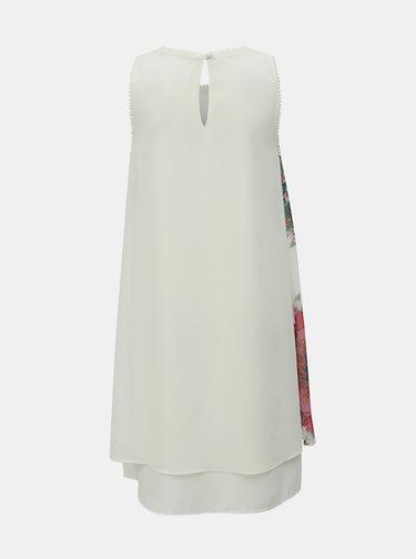 Bílé květované šaty Desigual Sacha