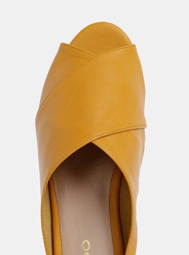 Papuci mustar de dama din piele ALDO Rireviel