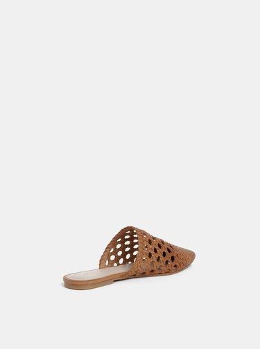 Papuci maro de dama din piele ALDO Rylyan