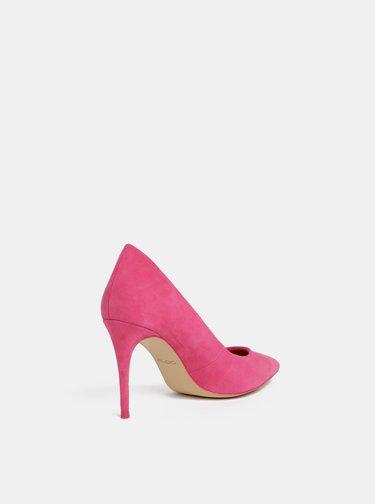 Pantofi roz cu aspect de piele intoarsa ALDO Traycey
