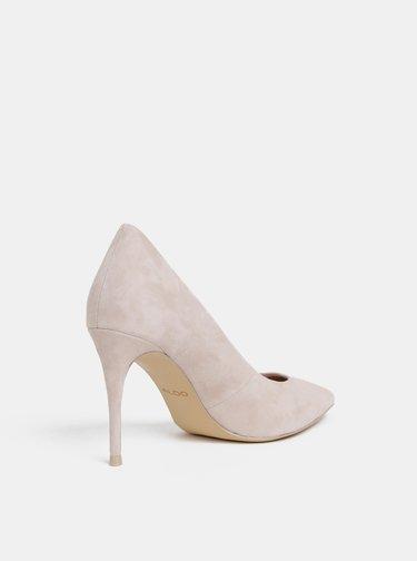Pantofi crem cu aspect de piele intoarsa ALDO Traycey