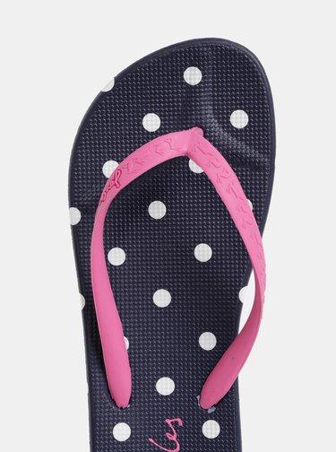 Papuci flip-flop albastru-roz de dama cu buline Tom Joule