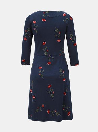 Rochie albastru inchis florala Tom Joule Beth