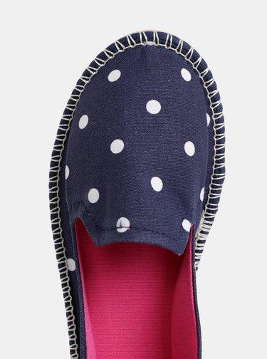 Pantofi slip on albastru inchis de dama cu buline Tom Joule