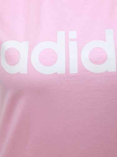 Ružové dámske tielko s potlačou adidas CORE