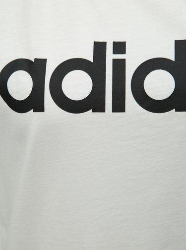 Bílé dámské tílko s potiskem adidas CORE