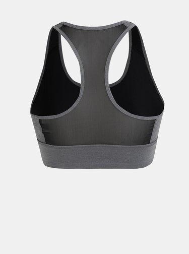 Sivá dámska športová podprsenka s priesvitnou zadnou časťou adidas CORE Design 2 Move