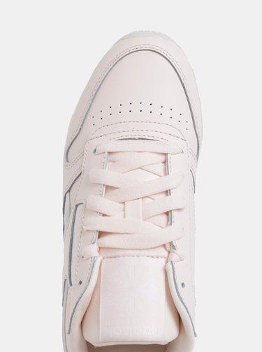 Světle růžové dámské kožené tenisky Reebok Classic LTHR