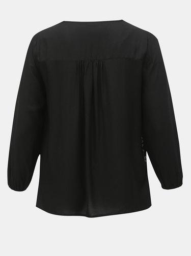 Bluza neagra cu madeira M&Co Plus