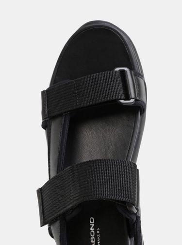 Čierne dámske kožené sandále na platforme Vagabond Lori