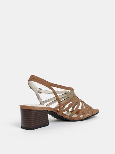 Hnědé semišové sandálky Vagabond Bella