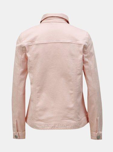 Ružová rifľová bunda M&Co