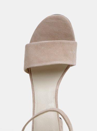 Svetloružové semišové sandálky Vagabond Penny