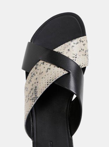 Papuci negri de dama cu motiv sarpe Vagabond Tia