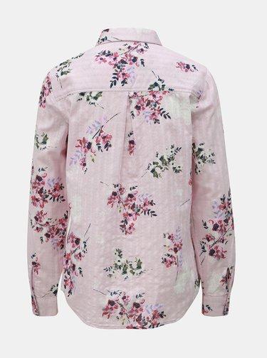 Ružová kvetovaná košeľa M&Co