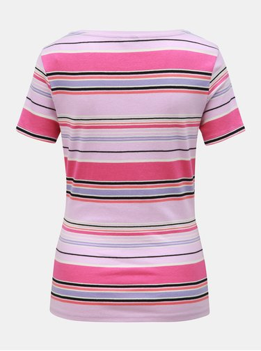 Tricou roz in dungi M&Co
