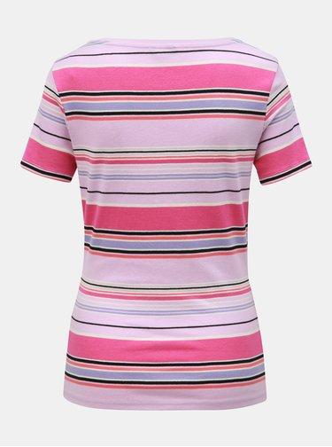 Růžové pruhované tričko M&Co