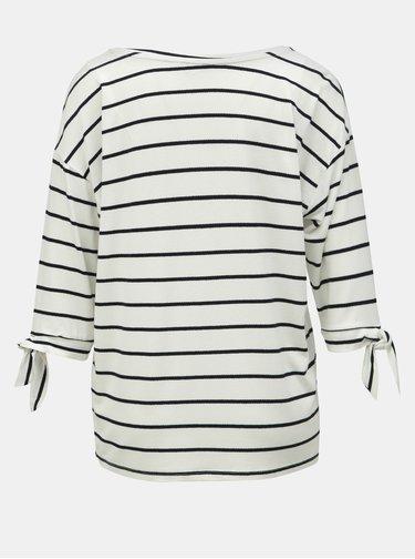 Čierno–biele pruhované tričko M&Co