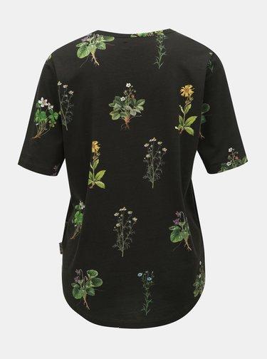 Tricou negru floral de dama Maloja Pranzaira