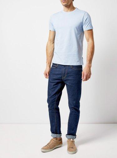 Modré basic tričko Burton Menswear London