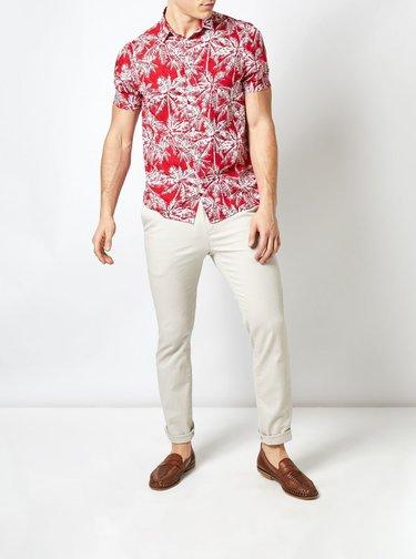 Camasa rosie cu model Burton Menswear London