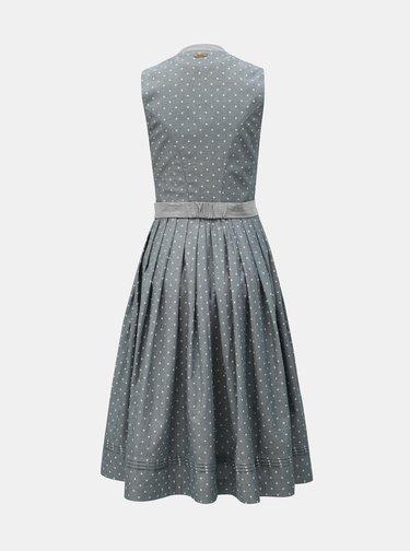 Sivé vzorované šaty s opaskom Maloja Bella Mira
