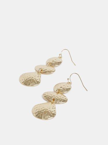 Náušnice v zlatej farbe Pieces Cassy