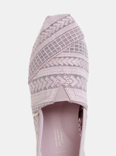 Pantofi espadrile mov deschis brodati de dama TOMS