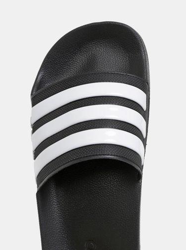 Papuci barbatesti negri in dungi adidas CORE Adilette Shower