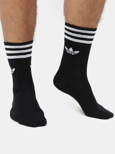 Balenie troch párov čiernych pánskych ponožiek adidas Originals