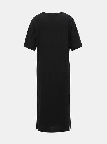 Čierne basic šaty s rozparkami Noisy May Mayden