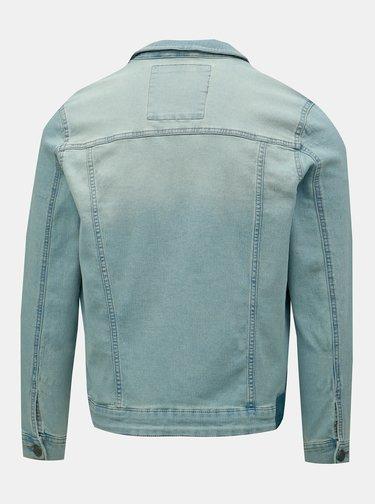 Jacheta albastra din denim ONLY & SONS Coin Trucker