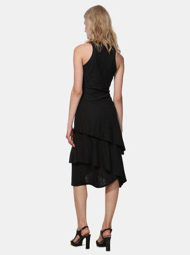Čierne šaty s výšivkou Desigual Chelsea