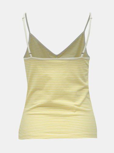 Žlto–biele pruhované tielko Noisy May Cilla