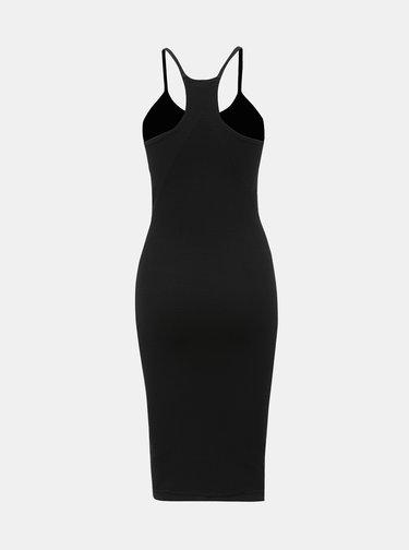 Čierne rebrované šaty Noisy May Smilla