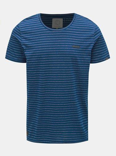 Tricou barbatesc albastru inchis in dungi Ragwear Paul Stripe Organic